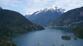 Lac Diablo, Washington State, Etats-Unis photos libres de droits