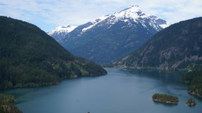 Lac Diablo, Washington State, Etats-Unis images libres de droits
