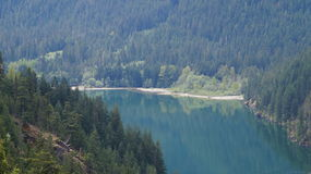Lac Diablo Washington State, Etats-Unis image libre de droits