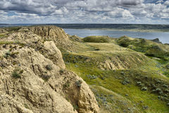 Lac Diefenbaker rolling Hills photo stock