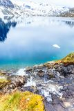 Lac Djupvatnet, Norvège Images stock