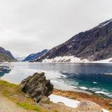 Lac Djupvatnet, Norvège Image stock