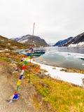 Lac Djupvatnet, Norvège Photo stock