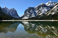 Lac Dobbiaco Photographie stock