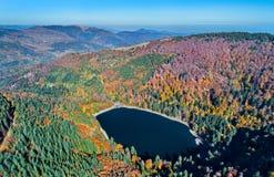 Lac du Ballon, a lake in the Vosges mountains - Haut-Rhin, France Stock Photography
