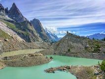 Lac du Miage Miage lake, Aosta Valley Italy Royalty Free Stock Photos
