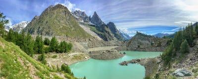 Lac du Miage Miage lake, Aosta Valley Italy. Lac du Miage Miage lake, Aosta Valley, Italy Stock Photos
