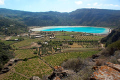Lac du miroir de Venus (Pantelleria) photographie stock libre de droits