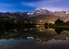 Lac Du Passy, Haute Savoie, Frankrijk Royalty-vrije Stock Foto's