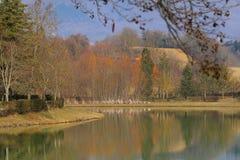 Lac du ` s de Montelleri Photos stock