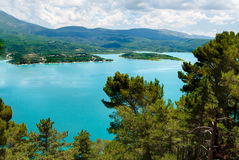 Lac du Sainte-Croix. A nice view on the Lac du Sainte-Croix Royalty Free Stock Photo