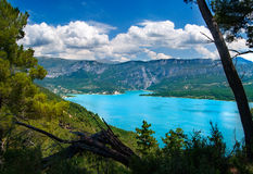 Lac du Sainte-Croix. A nice view on the Lac du Sainte-Croix Stock Photography