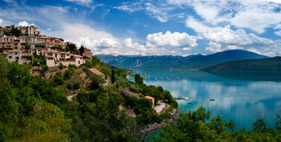 Lac du Sainte-Croix. In the south of France Stock Image