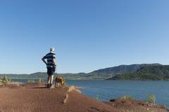 Lac du Salagou in France Stock Images