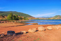 Lac du Salagou in France. Languedoc-Roussillon royalty free stock image