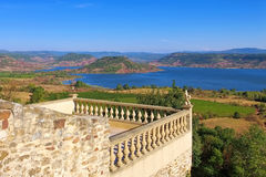 Lac du Salagou in France. Languedoc-Roussillon stock photo