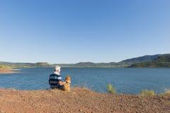 Lac du Salagou in Frankrijk Stock Afbeelding