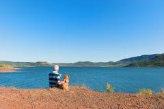 Lac Du Salagou w Francja Zdjęcie Royalty Free