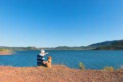 Lac Du Salagou w Francja Obraz Royalty Free