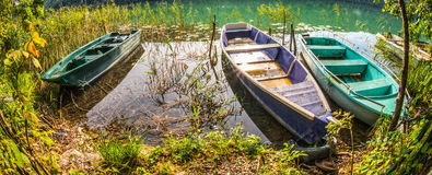 Lac du Val, Jura, France - Boats III Stock Photography
