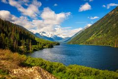 Lac Duffey en Colombie-Britannique, Canada image stock
