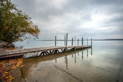 Lac elk de lancement de bateau Images libres de droits