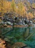 Lac en automne Photo stock