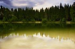 Lac en bois Photo stock