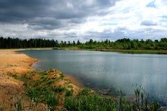 Lac en bois. Images libres de droits