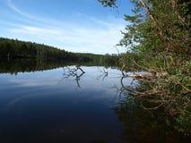 Lac en Finlande Images stock