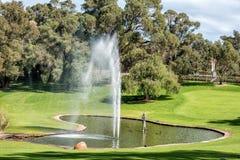 Lac en forme de coeur dans les jardins botaniques de Perth Photos stock