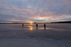 Lac en hiver Photo stock