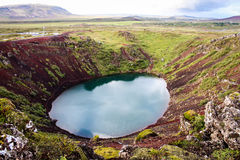 Lac en Islande pendant l'été Photos stock