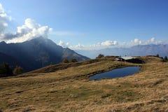 Lac en montagne Image libre de droits