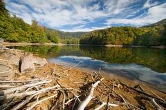 Lac en montagnes de Vihorlat Images stock
