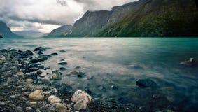 Lac en Norvège Photo stock