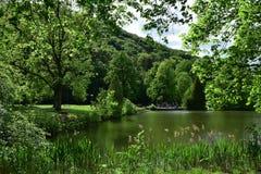 Lac en parc Photos libres de droits