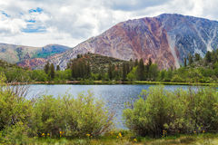Lac en parc national d'Inyo Images stock