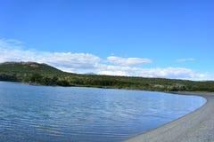 Lac en parc national de visibilité directe Glaciares, EL Chaltén, Argentine Photographie stock