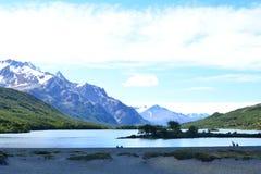 Lac en parc national de visibilité directe Glaciares, EL Chaltén, Argentine Photos stock