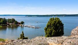 Lac en Suède. Photographie stock libre de droits
