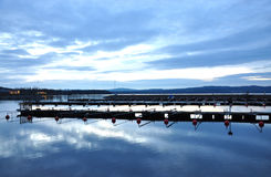Lac en Suède Photographie stock