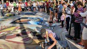 Lac en valeur le festival de peinture de rue Photos libres de droits