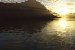 Lac ensoleillé Photographie stock