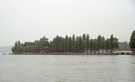 Lac est à Wuhan, Chine Photos libres de droits