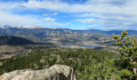 Lac Estes de parc d'ermite dans le Colorado Images libres de droits