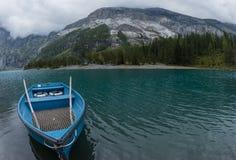 Lac et bateau Image stock