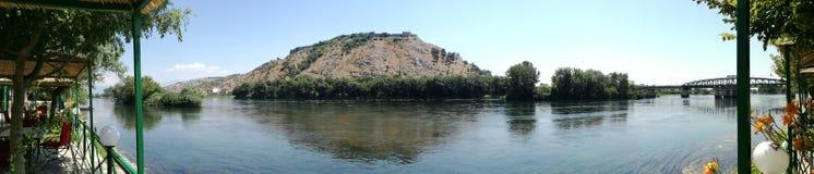 Lac et château Scutari Photos libres de droits