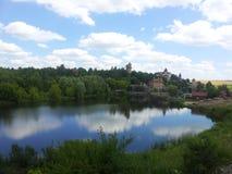 lac et ciel photo stock