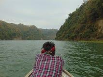 Lac et montagne Images stock